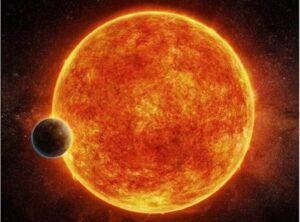 Concepción artística de una 'supertierra' orbitando una estrella enana roja. / M. Weiss